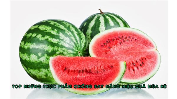Top những thực phẩm chống say nắng hiệu quả mùa hè